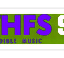 WHFS 99.1FM Alternative Radio Station Bumper Sticker Design Sticker