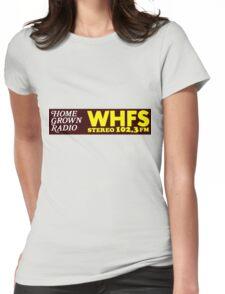 WHFS 102.3FM Alternative Radio Station Bumper Sticker Design Womens Fitted T-Shirt
