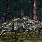 Monolophosaurus by Walter Colvin