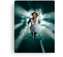 Beautiful Woman Diving in the Water art photo print Canvas Print