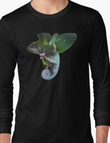 Mittens- My Cute Chameleon Long Sleeve T-Shirt
