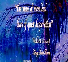 Walden Pond quote by KayeDreamsART