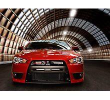 2008 Mitsubishi Lancer Evolution X art photo print Photographic Print