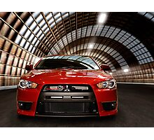 2008 Mitsubishi Lancer Evolution X art photo print Photographic Print