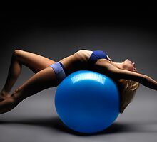 Woman on a Ball Artistic Fitness Concept art photo print by ArtNudePhotos