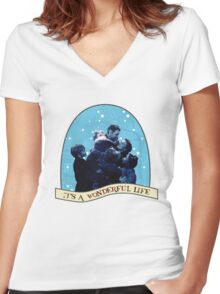 It's A Wonderful Life Women's Fitted V-Neck T-Shirt