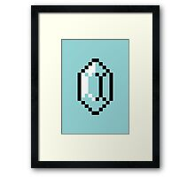 Rupee (Blue) Framed Print