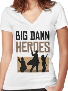Big Damn Heroes Women's Fitted V-Neck T-Shirt