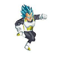 Super Saiyan God Super Saiyan Vegeta Dragon Ball: Resurrection F Photographic Print