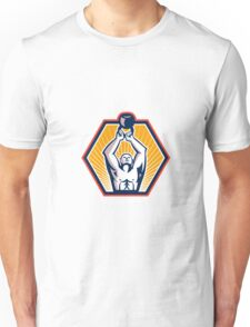 Crossift Athlete Lifting Kettlebell Front Retro Unisex T-Shirt