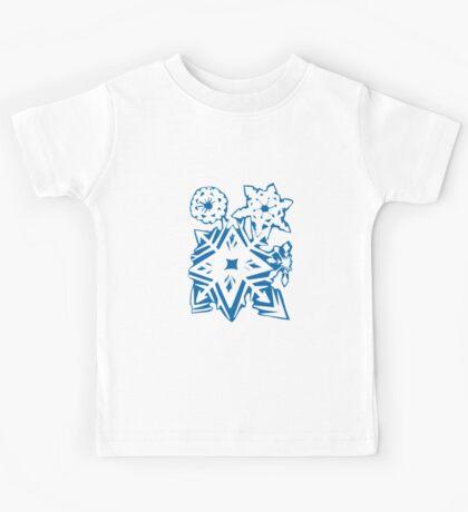 Snowflakes Blue & White Kids Tee