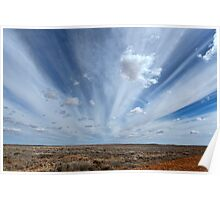 Clouds of the Outback - Tibooburra, NSW Poster