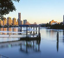 Brisbane Morning Glow by Martin Canning