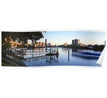 Brisbane Morning Glow Poster