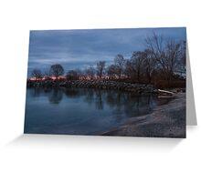 Calm, Pink Morning - Lake Ontario in Toronto Greeting Card