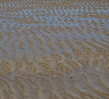 Water ripples over sand by RachelSheree