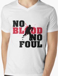Hockey: No blood no foul Mens V-Neck T-Shirt