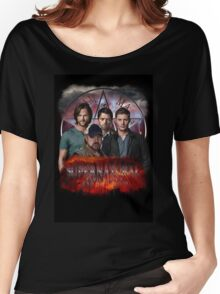 Supernatural Family dont end with blood 3  Women's Relaxed Fit T-Shirt