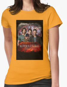 Supernatural Family dont end with blood 3  Womens Fitted T-Shirt