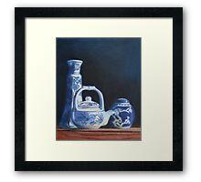 China Blue Framed Print