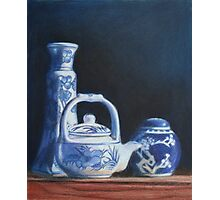 China Blue Photographic Print