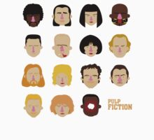 Pulp Fiction - Faces by kazkami