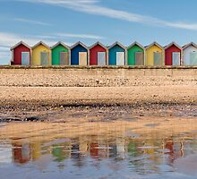 Beach Huts by Chris McIlreavy