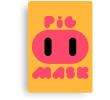 Pig Mask Logo Canvas Print