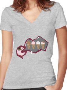 Eye Scream 4 Ice cream Women's Fitted V-Neck T-Shirt