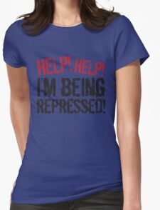Help! Womens Fitted T-Shirt