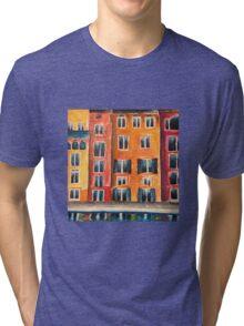 Italian Street Acrylic Painting Tri-blend T-Shirt