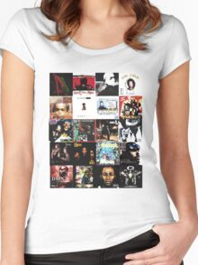 90s HIP HOP HISTORY Women's Fitted Scoop T-Shirt
