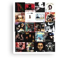 90s HIP HOP HISTORY Canvas Print
