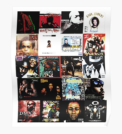 90s HIP HOP HISTORY Poster
