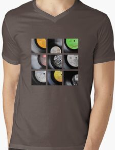 Vinyl Mens V-Neck T-Shirt