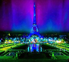 Northern Lights Descend on Paris by BrianJoseph