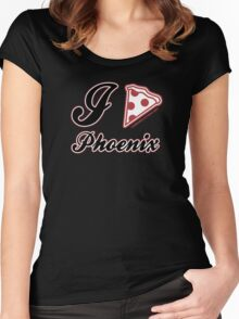 I Love Pizza Phoenix Women's Fitted Scoop T-Shirt