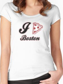 I Love Pizza Boston Women's Fitted Scoop T-Shirt