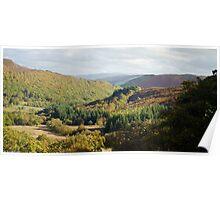 Elan valley mountain trail Poster