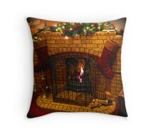 Warmest Christmas Greetings Throw Pillow