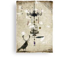 The Crow's Treasures Canvas Print