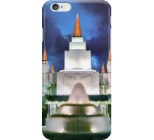 Oakland Temple Blue Sunset 20x30 iPhone Case/Skin