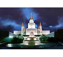 Oakland Temple Blue Sunset 20x30 Photographic Print