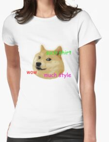 Doge classic Womens Fitted T-Shirt