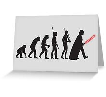 THE STAR WARS EVOLUTION Greeting Card