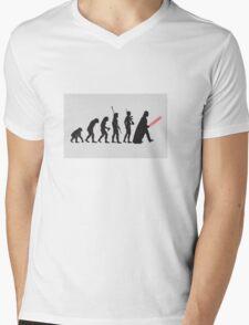 THE STAR WARS EVOLUTION Mens V-Neck T-Shirt