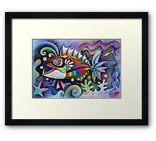 I invented a fish ( high resolution repost ) Framed Print