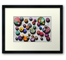 Abstract - Marbles Framed Print