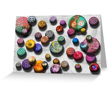 Abstract - Marbles Greeting Card
