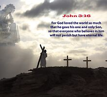 Christ  and the crucifix by Craig Wilson